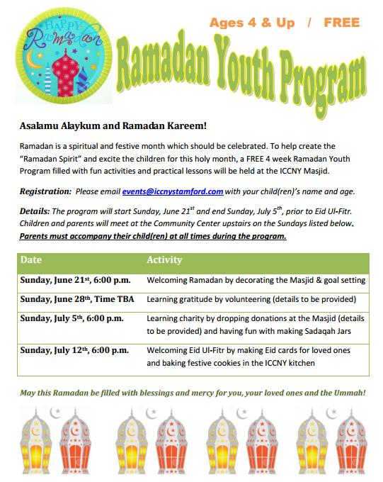 Ramadan Youth Program Flyer